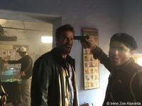 Behind the Scenes 'La cinta de Álex'. En la imagen Fernando Gil, Navit Dutt y Rick Lópex. Copyright Irene Zoe Alameda.
