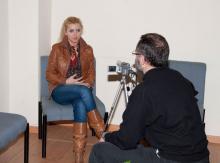Irene Zoe Alameda durante una entrevista al Rollo Higiénico
