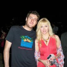 Irene Zoe Alameda con el director Kote Camacho (La gran carrera). Festival de Cine de Alicante 2011