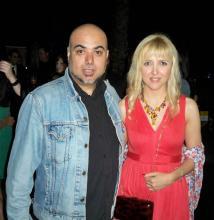 Irene Zoe Alameda con el director Samuel Ortí Martí (Vicenta). Festival de Cine de Alicante 2011