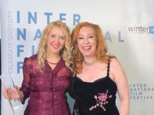 Ceremonia de entrega de premios WFA, 29-02-20. Con Steffanie Finn, directora del WFA