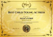Best Actress, Festival Vegas Movie Awards