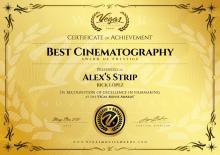 Best Cinematography, Festival Vegas Movie Awards