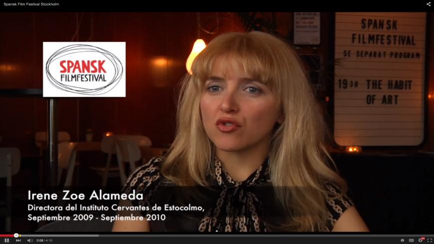 Irene Zoe Alameda, fundadora del Spansk Film Festival Stockholm